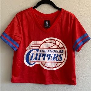 46a50bb21851ce NBA Tops - Never worn clippers jersey crop